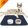 Waterproof Dog Food Mat Non-Slip 2 Pack Absorbent Dog Bowl Mat Large Dogs Feedin