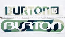 New listing New 2 Pc Burton Snowboard Logo Green Camouflage Die Cut Vinyl Sticker/Decal