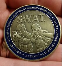 SWAT Police challenge coin law enforcement St George Catholic Christian