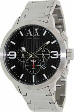 Armani Exchange AX 1272 Men's Chronograph Date Silver-tone Stainless Steel Watch