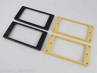 HUMBUCKER Flat base NECK or BRIDGE PICKUP SURROUND RINGS in CREAM or BLACK