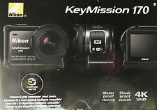 New! Genuine Nikon KeyMission 170 Bluetooth, WiFi 4K Action Camera - 26514