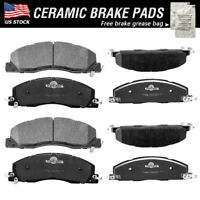 Details about  /TRQ Rear Ceramic Brake Pad Kit for Sebring Avenger Jeep Mitsubishi Lancer