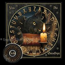 *THE WITCHING HOUR* Goth Black Cat Art Ouija Spirit Board By Lisa Parker (36cm)