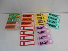 2 packs of Moving Labels. 30 labels per pack. Total of 60. 6 rooms.   J6-1