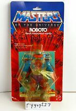 MOTU, Roboto, Masters of the Universe, MOC, carded, figure, He Man, sealed, NIP