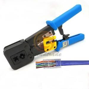 RJ45 Stripper Pressing Clamp Network Tools Crimper RJ12 Cat5 Cat6 8p8c Cable