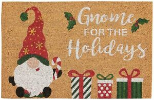 Nourison Gnome For The Holidays Coir Doormat One Size Beige/red/green