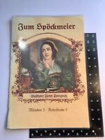 Vintage Restaurant Table Menu Zum Spockmeier Munched 2 German Dining