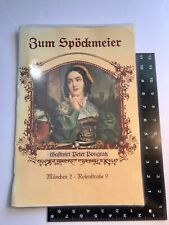 Vintage Restaurant Table Menu Zum Spockmeier Munched 2 German Dining