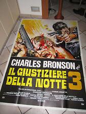 manifesto  IL GIUSTIZIERE DELLA NOTTE 3 BRONSON WINNER BALSAN (Death Wish 3)