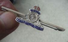 Vintage Silver & Enamel Sweetheart Brooch - Royal Artillery c.1930s Thomas Mott