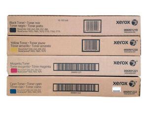 Xerox DocuColor 240 242 250 252 260 Toner Set Workcenter 7655 7755 7775
