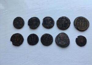 lot of Ancient ROMAN coins.
