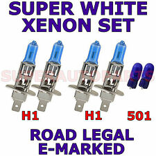 FITS FIAT MAREA WEEKEND 1997-2002  SET H1  H1  501 XENON SUPER WHITE LIGHT BULBS