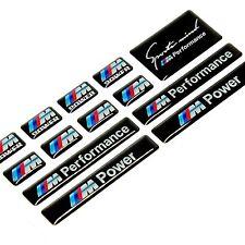 13pc BMW M Power Performance wheel key fob 3d domed sticker decal emblem