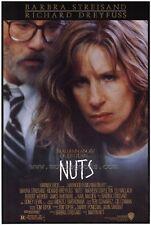 NUTS Movie POSTER 27x40 Barbra Streisand Richard Dreyfuss Maureen Stapleton Karl
