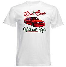 AUTO D'EPOCA ITALIANE ALFA ROMEO 75-Nuova T-shirt di cotone
