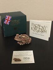 "2004 Harmony Kingdom ""Treasure Jests� Frog Box Figurine ""Samsara� Signed"
