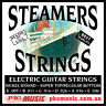 STEAMERS 09-46 GAUGE ELECTRIC GUITAR STRINGS, MADE in USA, NEW, FREE POSTAGE