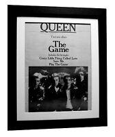 QUEEN+The Game+Crazy+POSTER+AD+RARE ORIGINAL 1980+FRAMED+EXPRESS GLOBAL SHIP