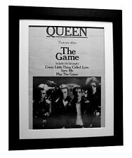 QUEEN+The Game+Crazy+POSTER+AD+RARE ORIGINAL 1980+FRAMED+EXPRESS GLOBAL SHIP