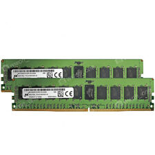 Micron 16GB 2X8GB 1Rx4 PC4-2133P PC4-17000R 2133MHz 288PIN ECC REG Server Memory