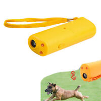 Ultrasonic Trainer With LED 3 In 1 Dog Training Device Anti Barking Stop Bark