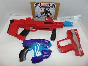 Halo UNSC M6, UNSC SMG & Covenant Plasma Pistol BoomCo Dart Blasters W/ Darts