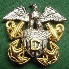 WW2 US Navy USN War Correspondent Visor Hat Cap Badge - No Reserve
