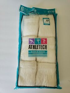 Vintage 90's Women's Size 9-11 Athletech Slouch Socks NOS 6 PAIRS!
