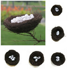 Artificial Birds Nest Fake Eggs Toad Vine Woven Straw Roost Creative Home Decor