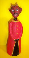 "HALLOWEEN 8.25"" DEVIL signed MONNIE WILSON bobble head sculpted paper mache"