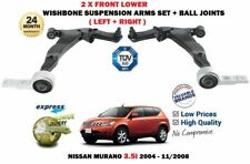 FOR NISSAN MURANO 3.5 2004-> 2X FRONT LEFT RIGHT WISHBONE SUSPENSION ARM + JOINT