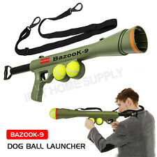 Dog Tennis Ball Gun Launcher Pet Fetch Throw Outdoor Toy OZ