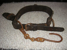 Vintage Lineman's Leather Belt In Good Condition