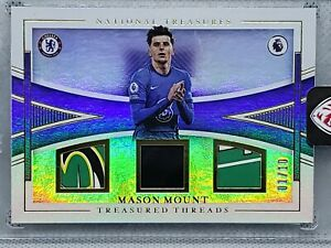 MASON MOUNT 🔥 2020-21 National Treasures Treasured Threads 1/10 Chelsea FC SSP