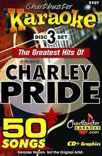 Karaoke Chartbuster CD+G Lot Greatest Hits Of Charley Pride 3 Disc w/Song List