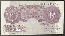 Bank of England. Ten Shillings. B251. K.O. Peppiatt. 1940. Y09E 544575. (BN36)
