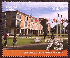 Mexico 2015 University Americas Puebla Udlap 75 Years Flags Campus Education Mnh