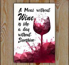 Wine, Metal Tin Plaque | Wine Quote | Metal Plaque | Sign, Wall Art