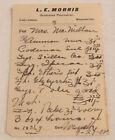 Antique Codeine Prescription 1902 Paper Ephemera Castle Rock WA Pharmacy