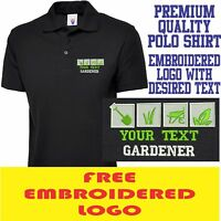 Personalised Embroidered Polo Shirt GARDENER Workwear UNIFORM