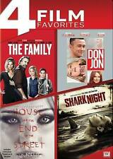 The Family/Don Jon/House at End of the Street/Shark Night (DVD, 2014, 4-Disc Se…