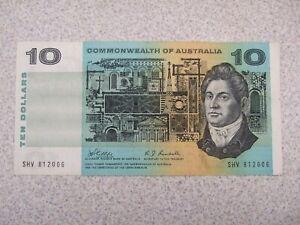 1968 $10 R303 banknote - Phillips/Randall - misaligned reverse