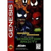 Venom/Spider-Man: Separation Anxiety - Sega Genesis Game *CLEAN VG