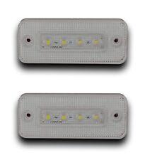 PAIR 24V LED WHITE FRONT/SIDE MARKER LIGHTS LAMP TRUCK LORRY TRAILER BUS CAMPER