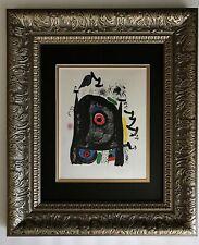 JOAN MIRO ORIGINAL 1971 BEAUTIFUL SIGNED PRINT MATTED 11 X 14