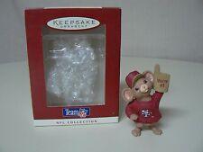 Hallmark Ornament 1996 NFL SAN FRANCISCO 49ERS Mouse We're #1 Foam Finger EUC