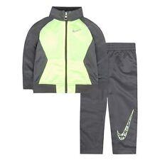 BOYS/KIDS Nike Swoosh GFX Gray Tricot Track Jacket & Pants Set $56.00 (SIZE 4)